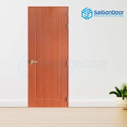 Cửa phòng vệ sinh bằng gỗ cánh phẳng