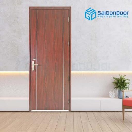 Cửa phòng vệ sinh bằng gỗ liền tấm